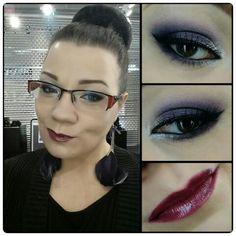 Make up by Piia Jääskeläinen  Different shades of lilac  Dark plum lips