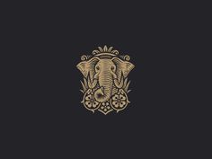 Brambles by Dan Gretta - Dribbble Elephant Illustration, Illustration Art, Logo Design Inspiration, Icon Design, Elephant Logo, Scratchboard, Animal Logo, Vintage Labels, Branding Design
