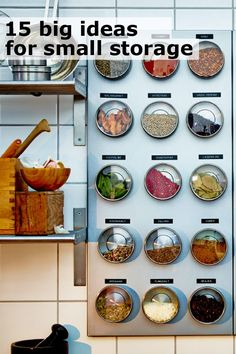 15 big ideas from IKEA for small storage.