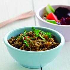 Risoto de quinoa com abóbora e brócolis