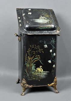 "Hand Painted Coal ""Scuttle"
