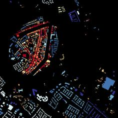 A Map of the Age of all Buildings in the Netherlands - information aesthetics