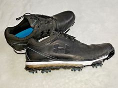 Under Armour Mens Golf Shoes UA Tempo Tour Size 8 Waterproof Charged Cushioning #Underarmour #GolfShoes