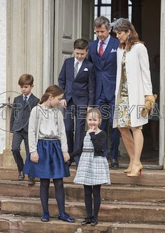 The Danish Royal Family attended the confirmation of Prince Felix