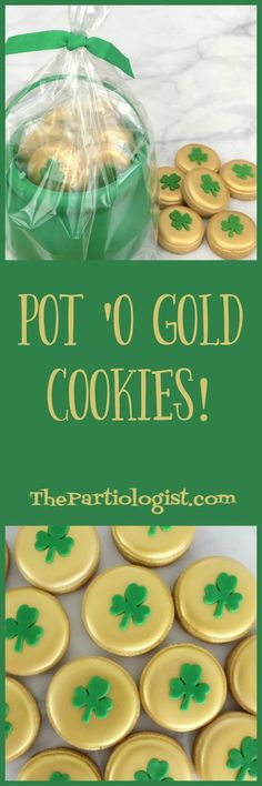 It's your one stop party shop! You'll find recipes and DIY fun food and decorating ideas for birthday's, holidays and everything in between! Chocolate Making, How To Make Chocolate, Golden Cookie, Pot Of Gold, Spring Recipes, Party Shop, Oreos, Royal Icing, Cookie Decorating