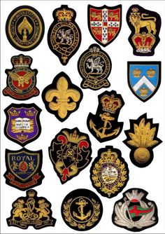 Blazer Badge- WW1 Royal Engineers Bullion wire Blazer Badge