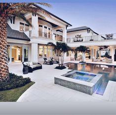 Beach House Plan: Caribbean Style Golf Course Home Floor Plan Dream Home Design, Modern House Design, My Dream Home, Florida House Plans, Florida Home, Beach House Plans, Naples Florida, Dream Mansion, Luxury Homes Dream Houses