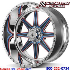 American Force Evade FP8 Polished Wheels & Rims. You and customize these removable aluminum face plates to any color you want, this example shows red, black and blue face plates stacked on each other.