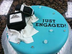 engagement cake- @Laura Hunter Sarkisian ;)