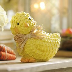 How adorable is this Faux Wicker Spring Chick? This small trinket will add just the right touch to your Easter decor!