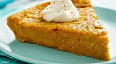 Impossibly Easy Pumpkin Pie - Volunteer to bring the pumpkin pie this Thanksgiving.  This recipe is a snap--no crust to make!