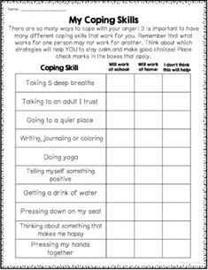 44 Best Anger Management Worksheets images   Activities ...