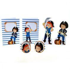 Anillo para servilleta pirata para decoración fiesta infantil y cumpleaños