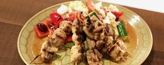 Taste the flavors of Greece in these Chicken Kabobs & Village Salad!