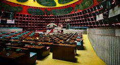 IN, Chandigarh, Parliament building. Architect Le Corbusier, 1963.