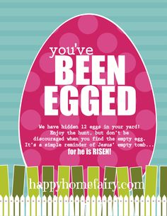 You've been Egged. . .  I Love this!