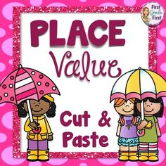 Celebrate the rainy days of spring with this engaging cut and paste activity to reinforce place value skills. Students will cut out the pieces of an umbrella and match them up using knowledge of place value. Includes 3 different skill levels appropriate for k, 1, and 2.Skills Addressed Number of hundreds, tens, and ones or tens and ones in a number.