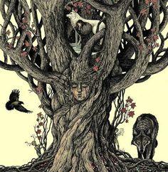 Covering fine art, tattoo, graffiti, design, and cinema. Heart Tree, Wild Wolf, New Community, Dark Ages, Magazine Art, Illusions, Illustration, Graffiti, Lion Sculpture