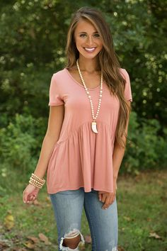 Give It A Whirl Peplum Blouse Mauve