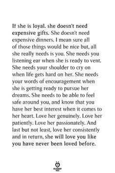 If She Is Loyal. She Doesn't Need Expensive Gifts. She Doesn't Need Expensive Dinners Related Deep Life Quotes That Will Make You Think In 2020 brave enough to. Motivacional Quotes, True Quotes, Words Quotes, She Is Quotes, Smile Quotes, Happy Quotes, Good Life Quotes, Love Quotes For Him, Quotes To Live By