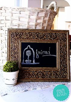 DIY Chalkboards for Teacher Valentine Gifts!