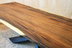 Monkey Pod Slab Table Top with art metal base Counter Top Sink Bathroom, Slab Table, Metal Fabrication, Houzz, Butcher Block Cutting Board, Metal Working, Countertops, Monkey, Base