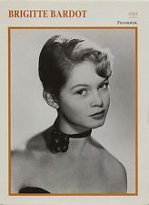 Brigitte Bardot - French Actress Film/Movie/Cinema Trading Card | eBay