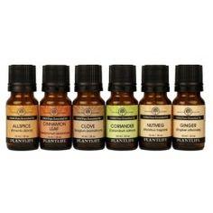 Spice Essential Oil Set - Set includes one Essential Oil 10ml bottle each of: Allspice, Cinnamon, Clove, Coriander, Nutmeg, Ginger