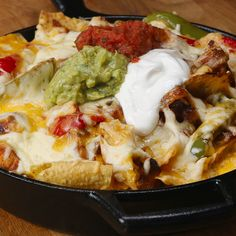 Loaded Chicken Fajita Nachos. I don't really like bell peppers maybe you can substitute it with jalapeños? I have a feeling it would be just as good if not better