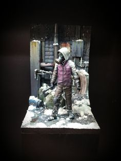 """Dead Winter"" by Peter ""Yoshi"" Müller. TRIGGER 1/24 scale (75mm scale)""Shield"" #Post_Apocalyptic #Sci_Fi #figure_model #vignette #diorama"