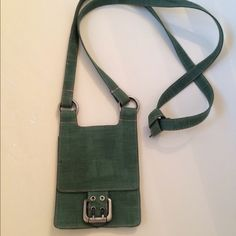 MiMo Cotton Crossbody Bag Green cloth; light weight; 1 inner zip pocket; Like New! MiMo Bags Crossbody Bags