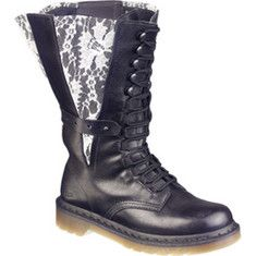 Doc Martens with mod lace--another perfect bridal accessory!  Goth/ punk/ rock n roll/ alternative wedding.