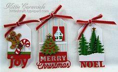 Christmas Tags, Christmas Icons, Evergreen Trees, Square House (tiny window)