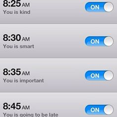 Funny iphone alarms
