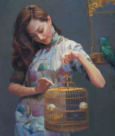 Chen Yifei [陈逸飞] ~ Chinese Romantic Realist painter   Tutt'Art@   Pittura * Scultura * Poesia * Musica  