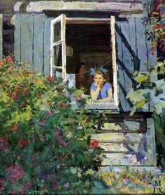 "Description of the painting by Fedor Reshetnikov ""At the dacha"""