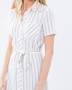 Delaney Stripe Shirt Dress by Atmos&Here Online | THE ICONIC | Australia