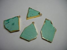 4 Piece Lot Of Synthetic Turquoise Slice by GEMSTONEEXPORTERS