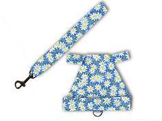 Blue Daisy Rabbit Harness  Matching Leash by louisescountrycloset, $12.00