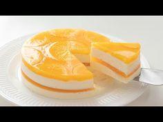 オレンジ・レアチーズケーキの作り方 No-Bake Orange Cheesecake*Eggless Recipe|HidaMari Cooking Eggless Cheesecake Recipe, Orange Cheesecake Recipes, Jelly Cheesecake, Cheesecake Fruit Salad, Cheesecake Frosting, Eggless Recipes, Eggless Baking, Orange Recipes, Jelly Cake