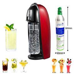 ILH Soda Maker Crystal G/én/érateur deau gazeuse avec Bouteille 1 Bouteille 10 chargeurs de CO2 Standard pour lajout Individuel dacide carbonique dans leau du Robinet,10pcs