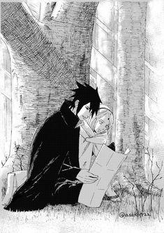 ♡Sasuke and Sakura♡ Anime Naruto, Naruto Und Sasuke, Sasuke Sakura Sarada, Manga Anime, Naruto Family, Naruto Couples, Boruto Naruto Next Generations, Naruto Shippuden, Studio Ghibli Wallpaper