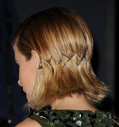 Hair Tutorials   : DIY this bobby-pin design with tips from Kate Mara's hairstylist.   https://flashmode.org/beauty/hair/tutorials/hair-tutorials-diy-this-bobby-pin-design-with-tips-from-kate-maras-hairstylist/  #Tutorials
