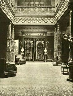 William H. Vanderbilt Residence | New York, NY. The Atrium, first floor looking towards Picture Gallery.
