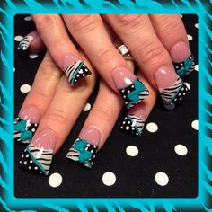 Teal bows and zebra by Oli123