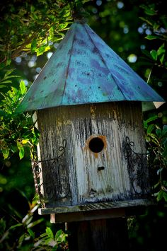Cute, weathered birdhouse! ~ photo by Cynthia Phillips