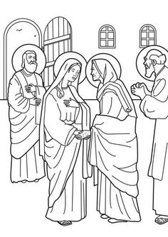 Luke 1:39-56: Mary Visited Elizabeth; Mary & Elizabeth