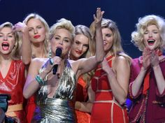 Sharon Stone and lots of models at the amFAR Gala (beautiful people against AIDS) #Cannes2014