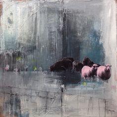 """Pink wool"" www.elskunst.nl"