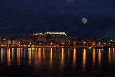 Kavala city by night, N. Syros Greece, Macedonia Greece, The Wonderful Country, Blue City, Paradise On Earth, Modern City, Thessaloniki, Travel Pictures, Travel Pics